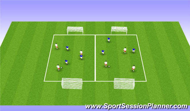 Football/Soccer Session Plan Drill (Colour): ODP Week 12 8:00-9:00