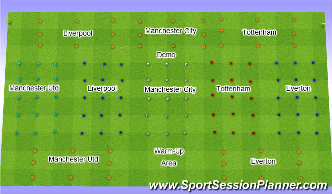 Football/Soccer Session Plan Drill (Colour): CAYA u9 South