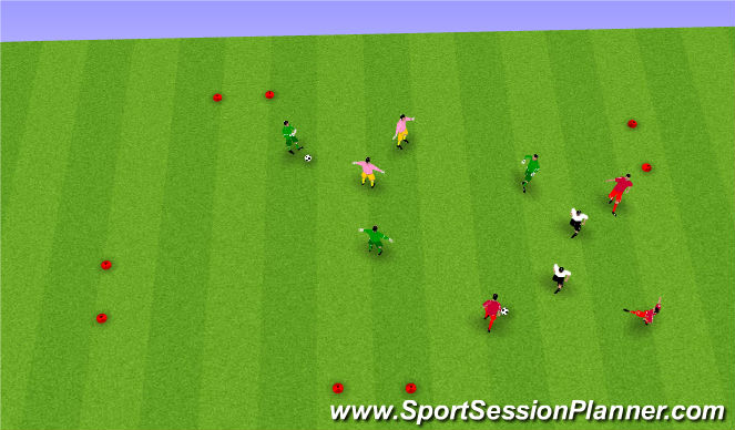 Football/Soccer Session Plan Drill (Colour): pass receive