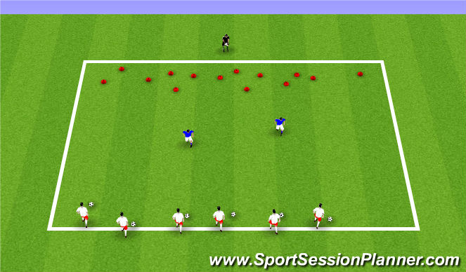 Football/Soccer Session Plan Drill (Colour): ODP Week 2 2nd session