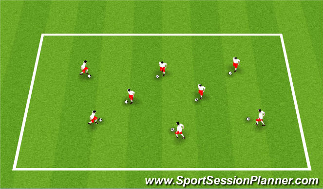 Football/Soccer Session Plan Drill (Colour): ODP Week 8 8:00-9:00
