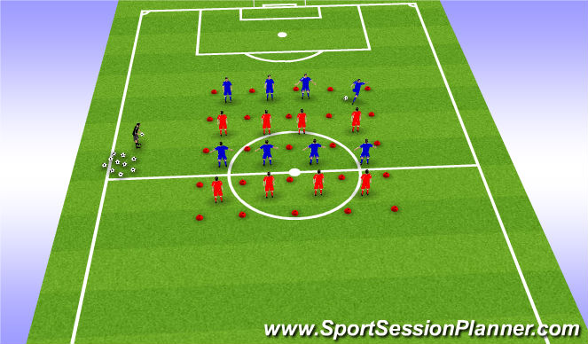 Football/Soccer Session Plan Drill (Colour): Multidirectional