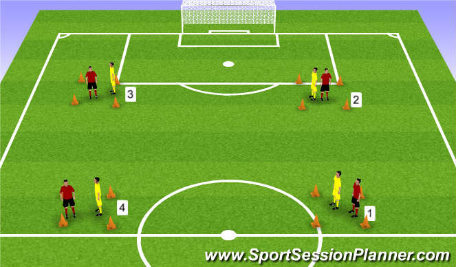 Football/Soccer Session Plan Drill (Colour): Speed with and without the ball