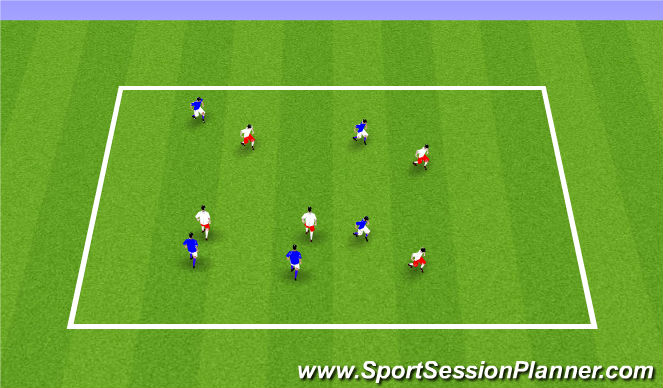 Football/Soccer Session Plan Drill (Colour): ODP Week 9 8:00-9:00
