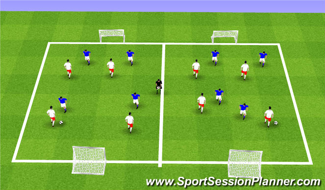 Football/Soccer Session Plan Drill (Colour): ODP Week 10 8:00-9:00