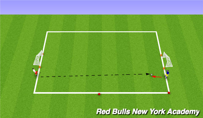 Football/Soccer Session Plan Drill (Colour): Game conditioned 20 mins