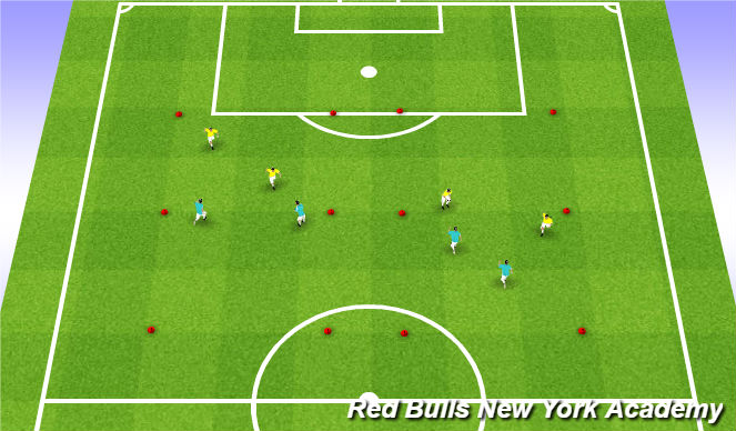 Football/Soccer Session Plan Drill (Colour): Valentin Warm up