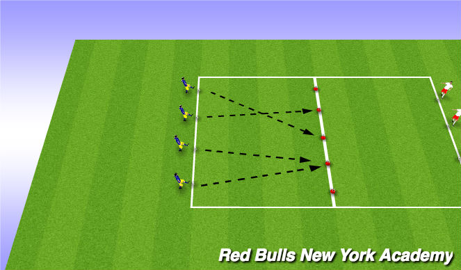 Football/Soccer Session Plan Drill (Colour): Angry Birds - In Space