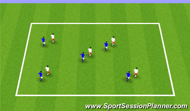 Football/Soccer Session Plan Drill (Colour): ODP Week 1 U9-U10
