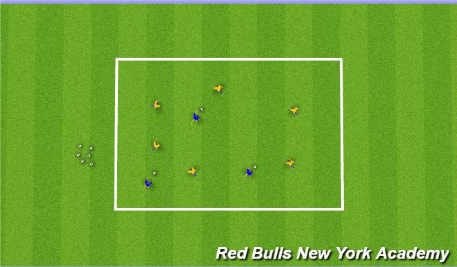 Football/Soccer Session Plan Drill (Colour): monster vs human