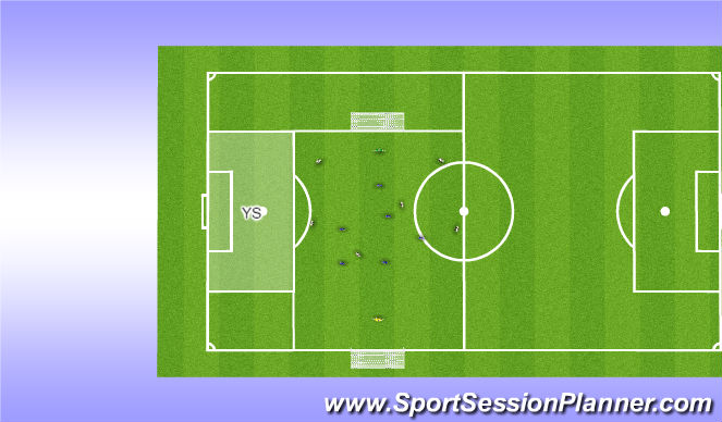 Football/Soccer Session Plan Drill (Colour): 7v7 + YS