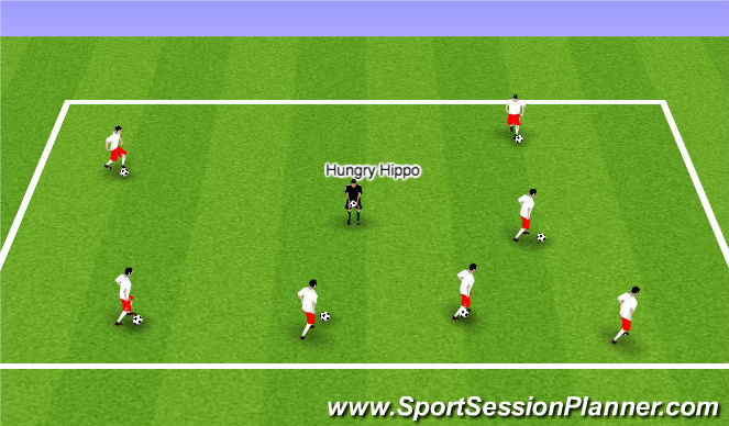Football/Soccer Session Plan Drill (Colour): ODP Week 2 7:00-8:00