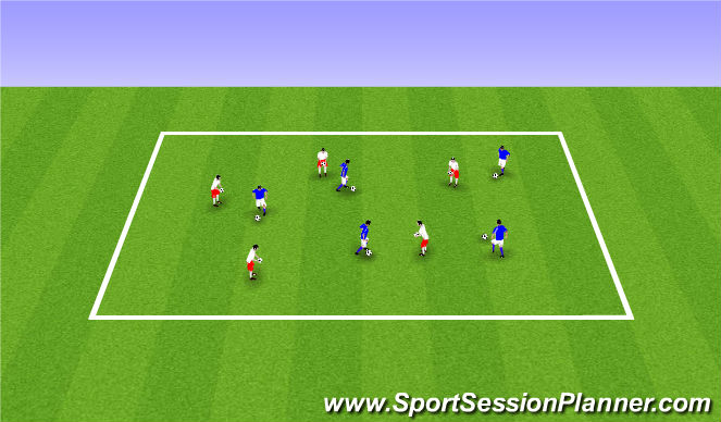 Football/Soccer Session Plan Drill (Colour): ODP Week 2 1st session
