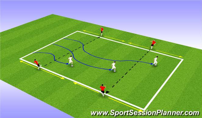 Football/Soccer Session Plan Drill (Colour): Passing/Dribbling