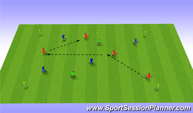 Football/Soccer Session Plan Drill (Colour): Possession w N
