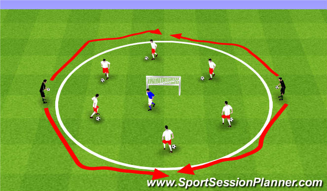 Football/Soccer Session Plan Drill (Colour): ODP Week 2 8:00-9:00