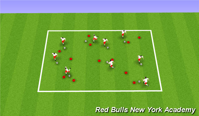 Football/Soccer Session Plan Drill (Colour): Warm Up/Unopposed