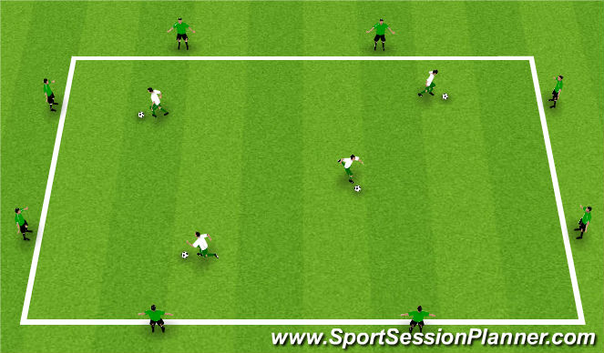 Football/Soccer Session Plan Drill (Colour): Warm-Up: Pass and Switch