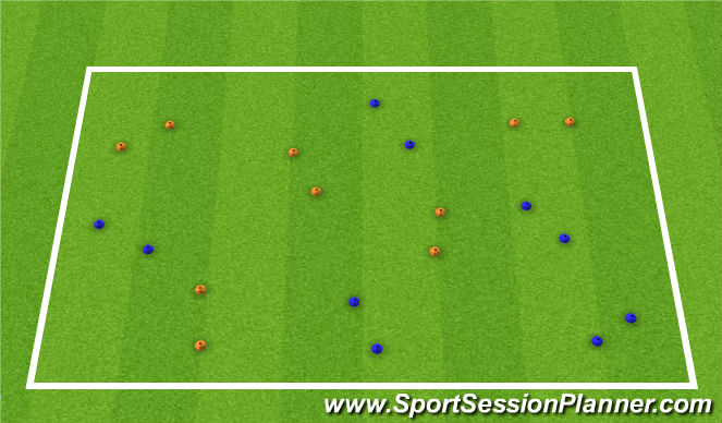 Football/Soccer Session Plan Drill (Colour): Activity 2: Pass through Gates