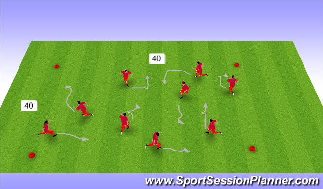 Football/Soccer Session Plan Drill (Colour): Change direction, change speed