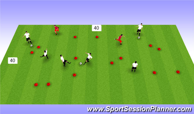 Football/Soccer Session Plan Drill (Colour): pass/receive
