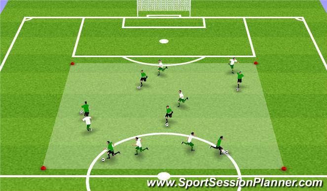 Football/Soccer Session Plan Drill (Colour): Astronaut Training