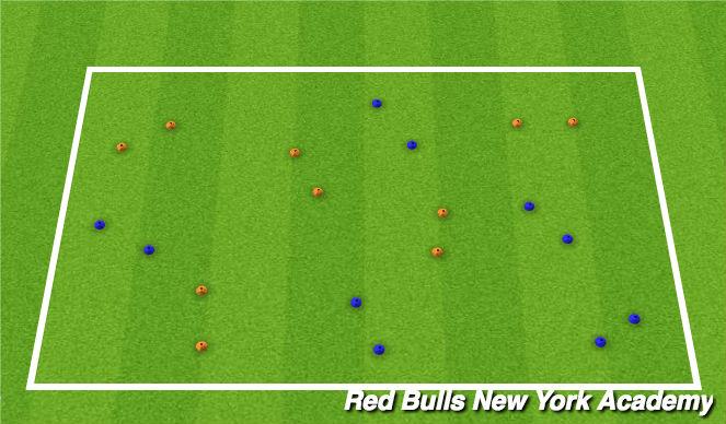 Football/Soccer Session Plan Drill (Colour): Technique Rep