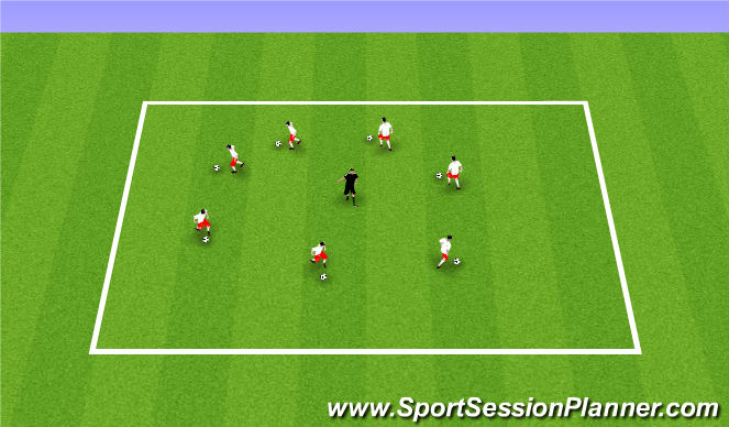 Football/Soccer Session Plan Drill (Colour): Week 3 ODP 1st Activity