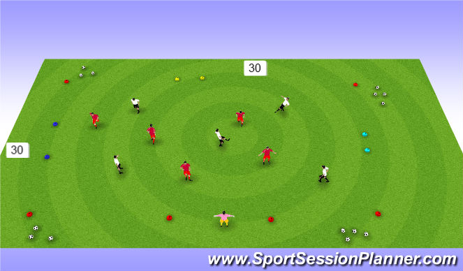 Football/Soccer Session Plan Drill (Colour): SSG 5v5