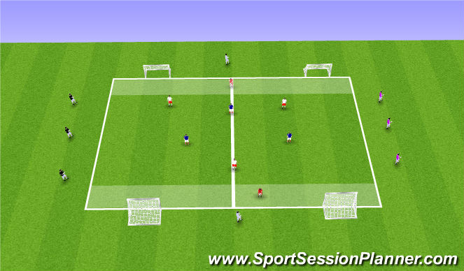 Football/Soccer Session Plan Drill (Colour): Midfield Rotation