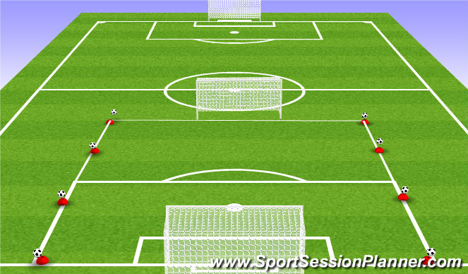 Football/Soccer Session Plan Drill (Colour): Shooting game