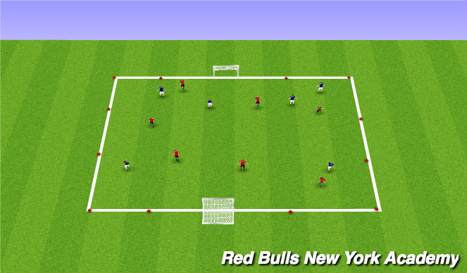 Football/Soccer Session Plan Drill (Colour): SAC Warm Up