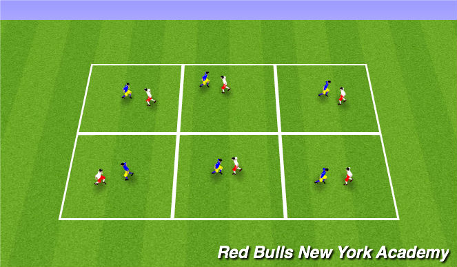 Football/Soccer Session Plan Drill (Colour): Fencing warm-up(body shape)