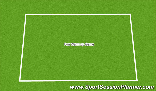 Football/Soccer Session Plan Drill (Colour): Fun Warm Up Games