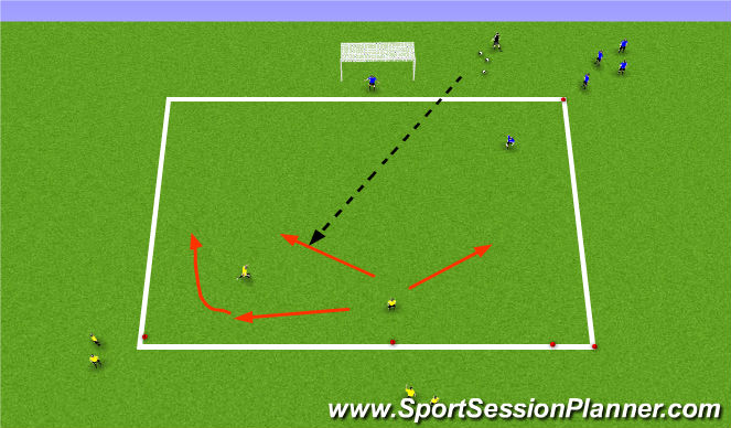 Football/Soccer Session Plan Drill (Colour): #'s Up go to Goal