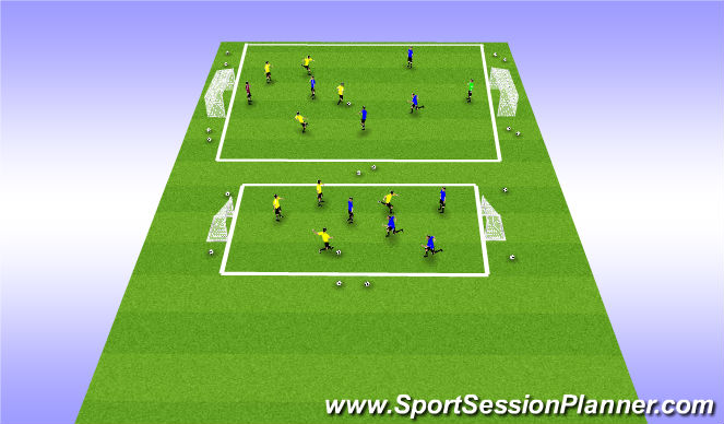 Football/Soccer Session Plan Drill (Colour): 5v5 Play