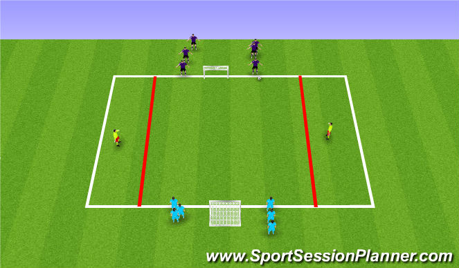 Football/Soccer Session Plan Drill (Colour): Expanded Small Activity