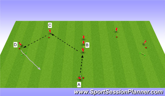 Football/Soccer Session Plan Drill (Colour): Y-Passing drill