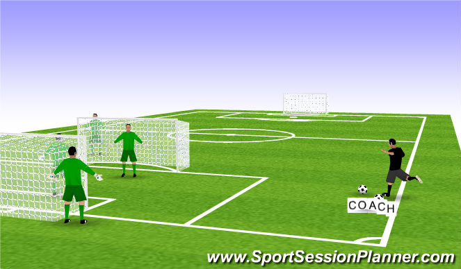 Football/Soccer Session Plan Drill (Colour): dual cross catching