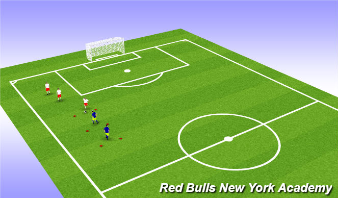 Football/Soccer Session Plan Drill (Colour): Main Activity 1, semi opposed and fully opposed