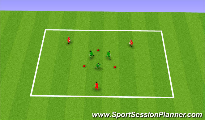Football/Soccer Session Plan Drill (Colour): Triangle Progressions