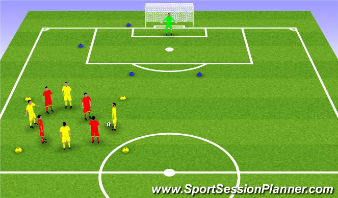 Football/Soccer Session Plan Drill (Colour): 3 / 4. Possession
