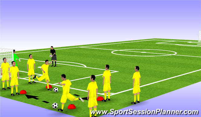 Football/Soccer Session Plan Drill (Colour): 2. Passing Pattern