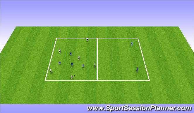 Football/Soccer Session Plan Drill (Colour): 6v4