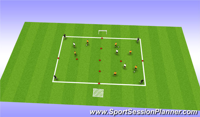 Football/Soccer Session Plan Drill (Colour): Target player practice