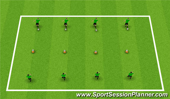 Football/Soccer Session Plan Drill (Colour): Activity 1: Hit the Target