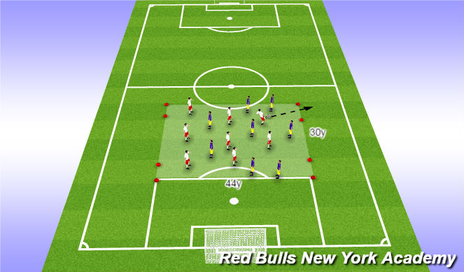 Football/Soccer Session Plan Drill (Colour): Expanded Game