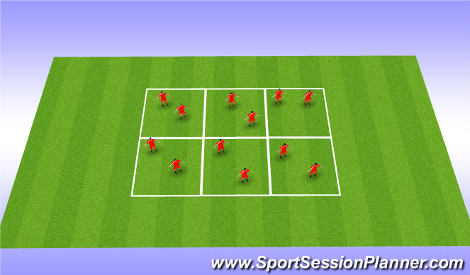 Football/Soccer Session Plan Drill (Colour): Test 1 Juggling