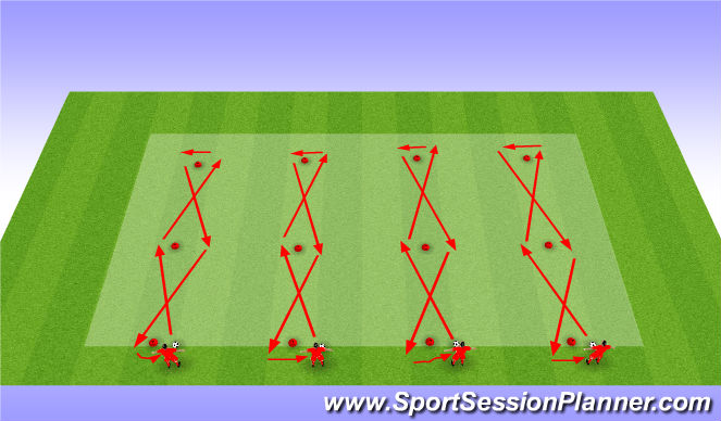Football/Soccer Session Plan Drill (Colour): Test 2 Agility dribbling