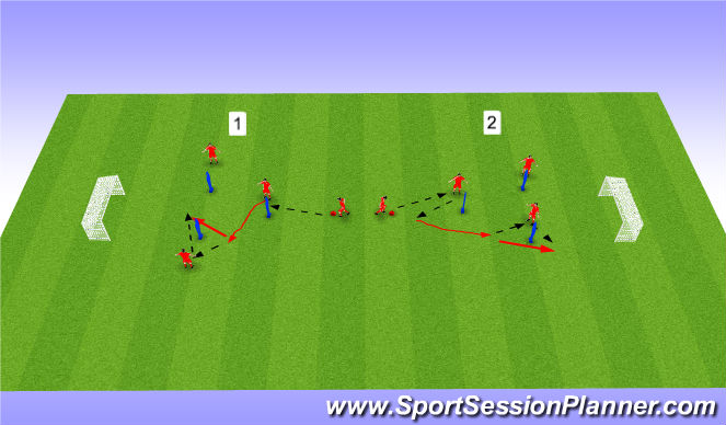 Football/Soccer Session Plan Drill (Colour): PEM 1